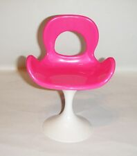 Barbie Doll Sized Furniture For Doll Pink Mod Chair New pl99