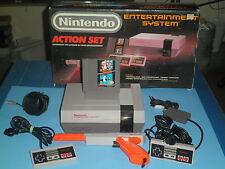NINTENDO ENTERTAINMENT GAME SYSTEM ORIGINAL ACTION SET W/FOAM NES HQ WARRANTY-1