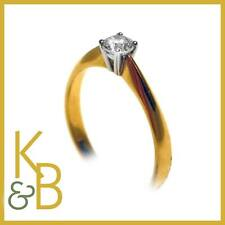 Ladies 18ct Gold 0.34ct Single Stone Diamond Ring - SIZE M 1/2 -  89271 SALE!!!