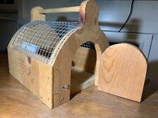 Handmade Wood Bird Cage 10� H x 9� W X 11�D with Lock & Key