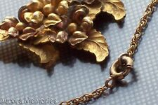 Antique Gold Leaves Chain Necklace Russian Gold Gilt? Early Haskell?