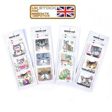 3Pcs/Pack Cats Magnet Bookmark Paper Clip School Office Supply Gift StationeryJX