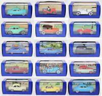 1 / 43 ème 15 VOITURES TINTIN et MILOU Hergé Moulinsart 2005 / jouet ancien