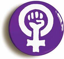 FEMINIST FIST SYMBOL BADGE BUTTON PIN PURPLE (Size 1inch/25mm diameter) FEMINISM