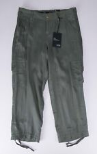 a.n.a. Capri Crop Pant WOMEN'S 4 Olive Green Lightweight Rayon Blend NEW w/Tags!