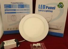 LED PANEL LIGHT CIRCULAR FLUSH MOUNT, 12w, 170mm 4000 lux NATURAL WHITE + PSU