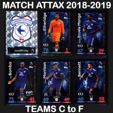 MATCH ATTAX 2018-2019 (TEAMS C to F) 18/19 *Please Select* 2018/19