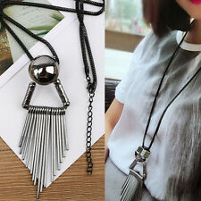 Exaggerated Pendant Sweater Necklace Jewelry New Lady Elegant Tassel Long Chain