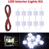 12V LED Interior Light Lamp Set For Van Trailers Lorries Boats Caravans RV White
