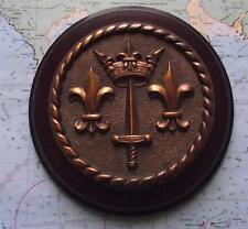 Old Heavy Bronze French Navy Warship Cruiser Jeanne d'Arc Crest TompionTampion