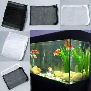 5/10x Useful Mesh Aquarium Filter Net Bag Fish Tank Zip Filter Media Bags