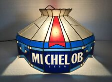 Vintage 1990 Michelob Beer Light Stained Glass Tiffany Hanging Lighted Bar Lamp