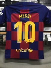 Nike Fc Barcelona Home Jersey 19/20 Blue Red Lionel Messi #10  Youth Large  Only