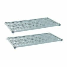 More details for metro max q shelves - epoxy coated - removable mats - 910(w) x 610(d) mm - 2 pc
