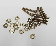 2.2mm x 12mm Cheese head brass pack of 10 nuts, washers and bolts