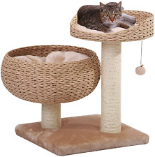 New listing Petpals New Paper Rope Natural Bowl Shaped With Perch Cat Tree…