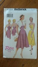 Butterick Retro 1951 Pattern #6633, Misses' Dress, Bolero, Sz 12-14-16