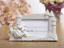 "Wedding Place Card Frames - Castle with Knight 3"" x 2"" , white, 36 count"