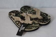 NEW Boys Camo Flip Flops Shoes Medium 13 - 1 Green Camouflage Frayed Sandals