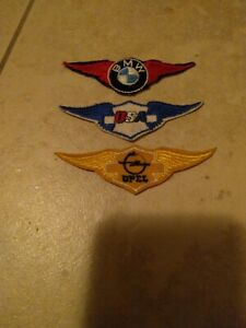 1970s Wing BMW,OPEL,BSA Motorcycle Patches Lot Of NOS
