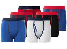 6/12 Boys Boxer Shorts Designer Trunks Kids Colours 95% Cotton with Keyhole 5-13