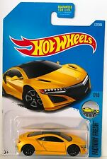 Hot Wheels '17 ACURA NSX - Yellow 2017 Factory Fresh 7/10 G-case exotic ns-x car