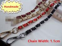 Chain & PU Leather Shoulder Crossbody Bag/Handbag/Handle/Purse Strap Replacement