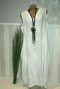 Moonshine Fashion Kleid WEIß 50 52 54 Sommerkleid DEKO BLÄTTER  Kleid /539 -13