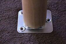 Montageplatte, Befestigungsplatte (gerade) 65x58mm für Tischbeine, Möbelfüße