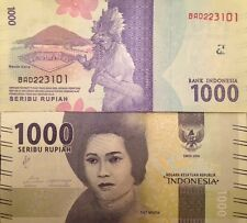 INDONESIA 2016 1000 RUPIAH NEW DESIGN UNC BANKNOTE P-NEW BUY FROM A USA SELLER
