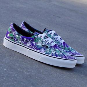 ⭕️ Vans Era Bandana Skull Men's Casual Sneaker Skate Shoe Trainer Tie Dye Purple