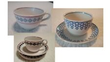 LOT Antique Staffordshire stick spatter spatterware child size cup saucer plates