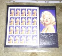 Marilyn Monroe Sheet Of Stamps 1995; right top corner plate position
