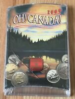 2000 Canada Uncirculated Coin Set Oh Canada Set - New In Cracked Case