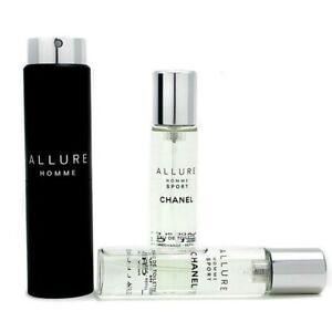 Chanel Allure Homme Sport EDT Travel Spray (With Two Refills) 3x20ml Men's
