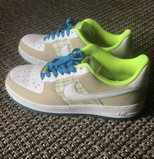 "Air Force 1 Low Nike Sneakers Plaid Shoes Wmn Sz 11 315115-114 ""Net"" 2007"