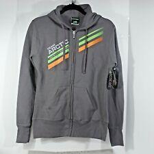 ARCTIC CAT Race TEAM gray HOODIE zipped sweatshirt Women's S, cozy fleece lined
