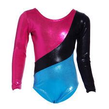 Kids Gymnastics Leotard Ballet Dance Skatting Bodysuit Costume Girls Dancewear