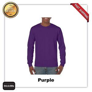 NEW MANS GILDAN LONG Sleeves BLANK t shirt Heavy Cotton Adult casual Tee G5400
