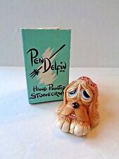 Vintage Pendelfin Pooch Rabbit Figure In Pink Made In England ~ Nib P1