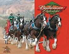 Budweiser Clydesdales large metal sign 410mm x 320mm (sf)