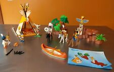 Playmobil Indian Village 3250 Complete with Accessories and manual. D1