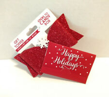 Gift Topper Holds Gift Card Or Message Happy Holidays Sparkly Bow Snowflake New