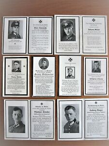 Orig.Sterbebild 2.WK, Konvolut 8 Soldaten mit Uniform, gute Erhaltung, rar