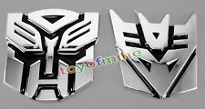 2X 3D Logo Protector Autobot Transformer Emblem Badge Graphics Decal Car Sticker