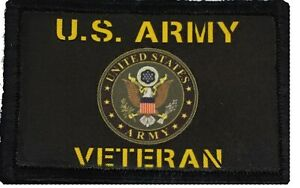 US ARMY Veteran Patch Tactical  Military USA Badge Hook Flag