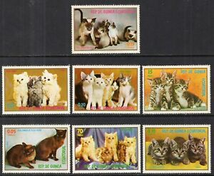 Equatorial Guinea #Mi1016-Mi1022 MNH CV€3.60 Cats Kittens