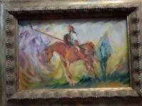 Eugenio Cannistrà olio su tela cm 30 x 20 con cornice perfetta. UNICO
