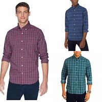 Nautica Long Sleeve Wrinkle Resistant Stretch Plaid Classic Fit Shirt