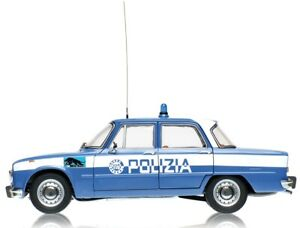 ALFA ROMEO GIULIA SUPER 1600CC POLIZIA 1970 SQUADRA VOLANTE 67 MODELLINO 1/18